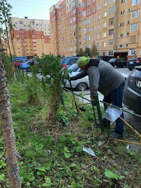 В Усинске продолжаются работы по благоустройству