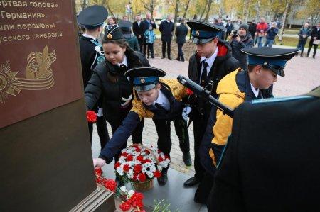 В Усинске открыли памятник Василию Маргелову