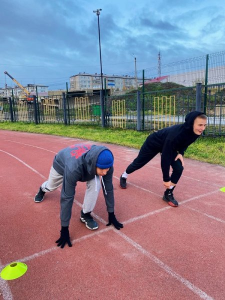 Усинские школьники приняли участие в забегах ГТО