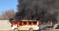 В Усинске сначала загорелся автобус, а затем мусоропровод в девятиэтажке