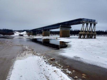 Проезд через реку Лыжа по понтонному мосту закрыт