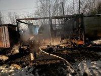 В поселке Усадор на пожаре погибли два человека