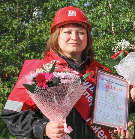 Людмила Ануфреева на конкурсе профмастерства, 2015 год
