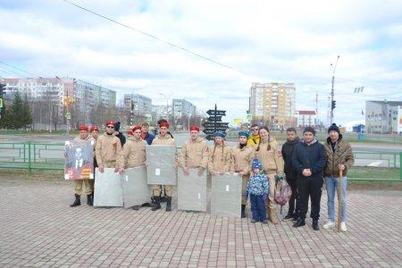 Накануне 76-летия Победы в Усинске открыта Аллея Памяти и Славы