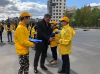 Сегодня на площади перед зданием администрации состоялось торжественное открытие «Отряда мэра»