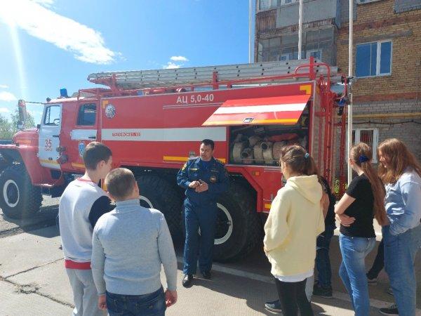 В Усинске дети побывали на экскурсии в 35-ПСЧ