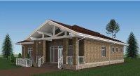 Примерно так будет выглядеть новая общественная баня в Усть-Усе (эскиз из проектной документации)